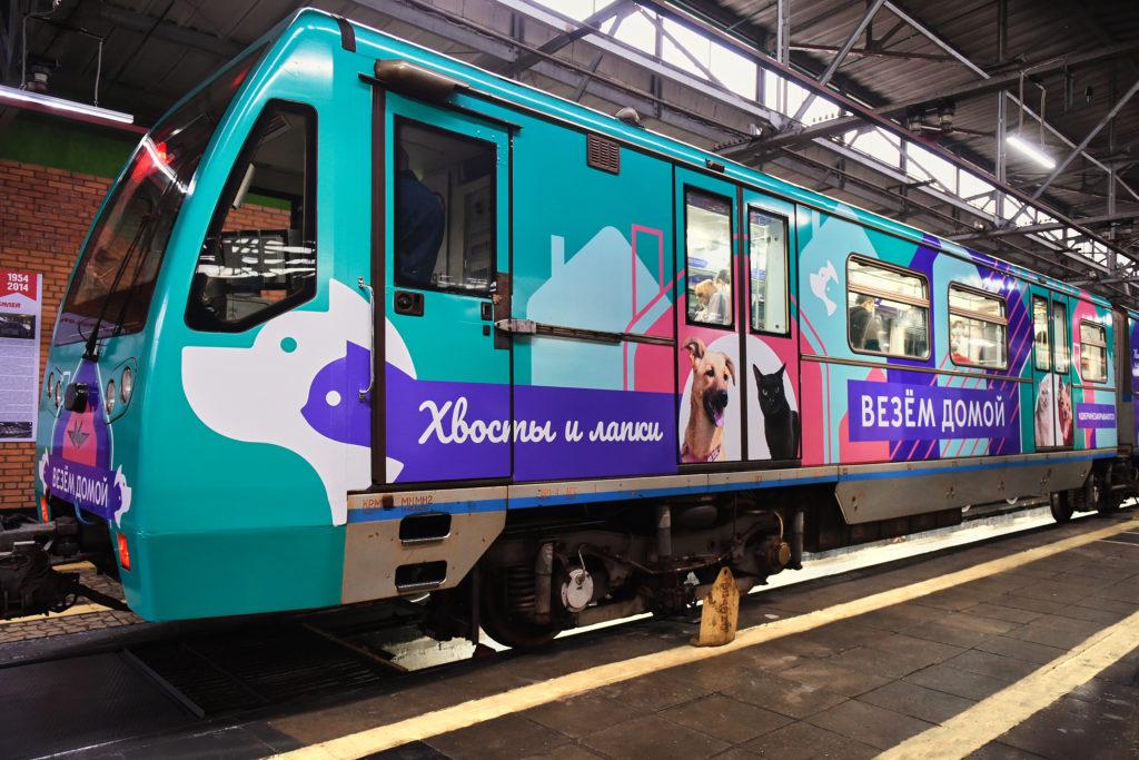 наши собаки теперь едут в метро
